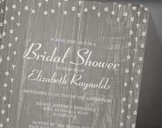 Grey Rustic Country Barn Wood Bridal Shower Invitation