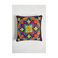 Karma Living Boho Sunporch Sweetness Pillow (€27) ❤ liked on Polyvore featuring home, home decor, throw pillows, bedding, multi, sheets - basics, teal throw pillows, teal accent pillows, teal home accessories and inspirational throw pillows