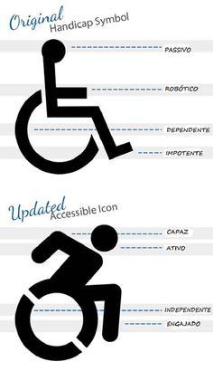 Novo símbolo internacional de acessibilidade