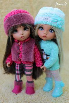 Осенние утепляшки (pukifee Ante & Vanilla, Fairyland) / Одежда, обувь, аксессуары для шарнирных кукол БЖД, BJD / Бэйбики. Куклы фото. Одежда для кукол