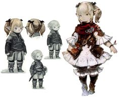 View an image titled 'Lalafell Female Art' in our Final Fantasy XIV: A Realm Reborn art gallery featuring official character designs, concept art, and promo pictures. Female Character Design, Character Modeling, Character Design Inspiration, Character Concept, Character Art, Final Fantasy Xiv, Final Fantasy Artwork, Fantasy Characters, Female Characters