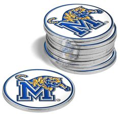 Memphis Tigers-12 Pack Ball Markers