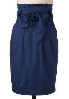 Paper Bag Waist Skirt Tutorial. Love it!