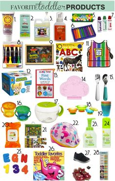 Toddler Must Haves. I love this lists with links.