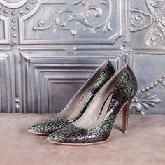 MANHATTAN - green elaphe  #altiebassi #autumn #winter #italianshoes