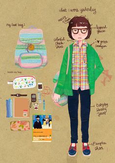 what i wore yesterday by lidiapuspita, via Flickr