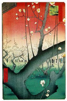 (Early Spring) Ukiyo-e (Japanese woodblock art), Ando Hiroshige (1797-1858)