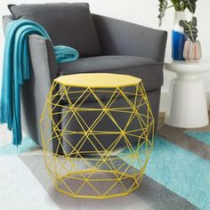 51 Outdoor Side Tables That Will Add Convenience To Your Outdoor Experience Outdoor End Tables, Metal End Tables, Outdoor Chairs, Indoor Outdoor, Outdoor Furniture, Side Tables For Sale, Metal Stool, Iron Table, Coffee Table With Storage