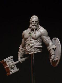 "ArtStation - ""Bress the Old Barbarian"", Joaquin Palacios Fantasy Warrior, Fantasy Art, Arte Peculiar, Character Art, Character Design, Anatomy Sculpture, Ancient Greek Sculpture, Arte Robot, Anatomy Art"