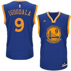 Youth Golden State Warriors Andre Iguodala adidas Royal Blue Road Replica  Jersey 7984e6fc4