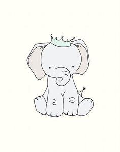 Nursery Art, Little Elephant Prince, 11x14 Nursery Art Print, Nursery Decor, Elephant Art Print, Children Giclee Art Print, Kids Wall Art on Etsy, $20.00