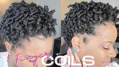 Photo Credit: Natural Brown Beauty Finger Coils Natural Hair, Coiling Natural Hair, Tapered Natural Hair, Natural Hair Styles, Short Hair Styles, Perm Rod Set, Natural Hair Tutorials, Pin Curls, Pin Up Style