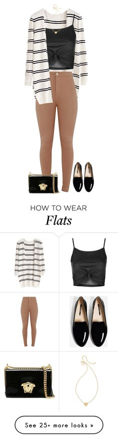 """Untitled #483"" by dida-zalesakova on Polyvore featuring Topshop, Versace and Kate Spade"