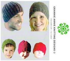 Family Beanies knitting pattern