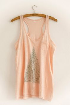 pink top with glitter