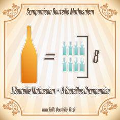 Comparaison entre la bouteille mathusalem et champenoise