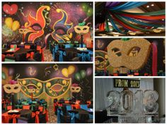 Masquerade Party Décor by www.idealpartydecorators.com