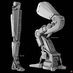 639 отметок «Нравится», 14 комментариев — Garreth Jackson (@garreth_icartworks) в Instagram: «Mechanical Leg Variations A few more limb variations done this year so far. This time focusing on…»