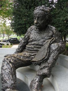 The Albert Einstein Statue at the National Academy of Sciences, located at 2101 Constitution Avenue N.W.  One of my favorite monuments to visit!