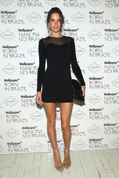 love the classy black dress and love her
