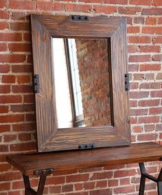 Another great find on #zulily! Rustic Wall Mirror #zulilyfinds