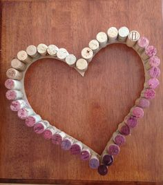 Post-Grad Crafting: Hollow Ombre Wine Cork Heart