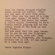 Laura Ingalls Wilder Now Quote Typed on Typewriter by farmnflea, $13.00