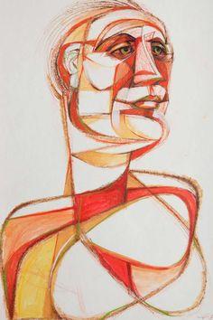 """El Hombre"" Cubist Painting by Alfonso Munoz 3"