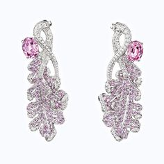 """Racines célestes"" earrings in pink spinels, pink sapphires and diamonds. #Chaumet #LaNaturedeChaumet #Oak"