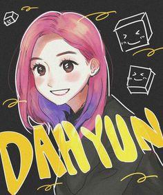 Tumblr Drawings, Kpop Drawings, Chibi, Kpop Anime, K Pop, Twice Fanart, Japanese Drawings, Tumblr Love, Twice Dahyun