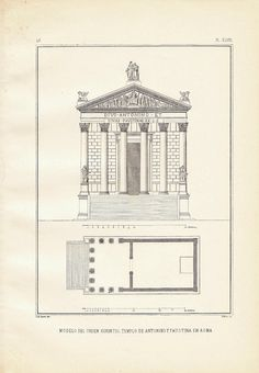 Temple of Antonius and Faustina, at CarambasVintage, $16.00