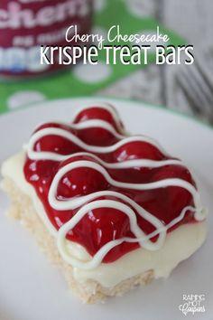 Cherry Cheesecake Krispie Treat Bars