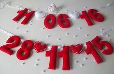 Data de Casamento em Feltro Valentine Crafts, Valentines Day, Image Pinterest, Saint Valentin Diy, Felt Crafts Diy, Felt Decorations, Felt Patterns, Valentine's Day Diy, Felt Toys