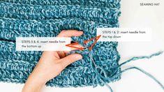 One Hour Free Crochet Hat Pattern for Beginners (+ Tutorial) One Hour Free Crochet Hat Pattern for Beginners (+ Tutorial),Handarbeiten: Mützen Whether you're new to crocheting or just last minute crochet project, this free. Easy Crochet Hat Patterns, Crochet Beanie Pattern, Crochet Designs, Crochet Stitches, Crochet Hat For Beginners, Beginner Crochet Projects, Knitting Projects, Crochet Crafts, Free Crochet