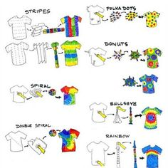 How to tie dye different styles