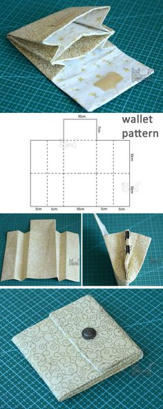 Accordion Wallet / Clutch Tutorial Portemonnaie<br> Tutorial: How to Make a Duct Tape Accordion Wallet Clutch Tutorial, Diy Wallet Tutorial, Diy Tutorial, Diy Accordion Wallet Tutorial, Box Couture, Sewing Tutorials, Sewing Projects, Sewing Patterns, Purse Patterns