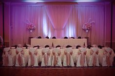 #Sheraton #University #head #table #blush #pink