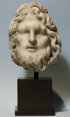 Roman Marble Head of Neptune