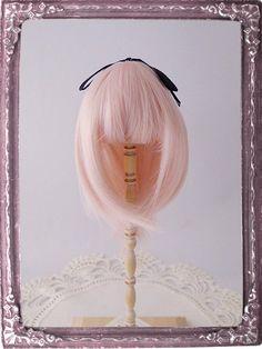 4  4.5inch Doll Wig // Medium Airy  Candy Pink // by DOLLWIG