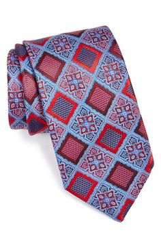 Very regal. Men Accesories, Tie Accessories, Tie Crafts, Geometric Pattern Design, Designer Ties, Elegant Man, Cool Ties, Paisley Dress, Tie And Pocket Square