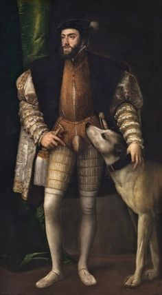 Charles V with a Dog, 1533 by Titian.