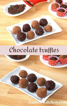 Chocolate truffles (video recipe) - isabell's kitchen