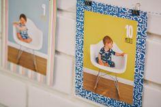 varal de fotos registro 1 ano bebê