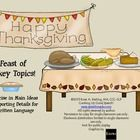 Free! A Feast of Turkey Topics {Thanksgiving Main Ideas and Supporting Details}