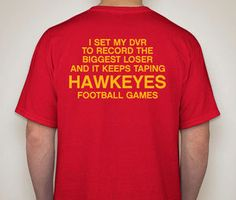 IOWA STATE CYCLONES biggest loser iowa hawkeyes by PressboxApparel, $19.99 Iowa State Football, Hawkeye Football, Iowa Hawkeyes, Iowa State Cyclones, Nebraska, Funny Shirts, Espn, Dorm Room, Laughter