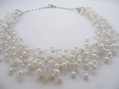 White bridal necklaceairy necklace for summer by PaijasBoutique, $20.00