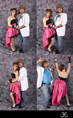 a backdrop like this would be less labor intensive than the usual little scene with a random plant and balloon arch. 80s Prom Dress Costume, 80s Costume, Funny Halloween Costumes, Fun Costumes, Halloween Couples, Halloween Diy, 90s Prom, 80s Party Outfits, Prom Photos