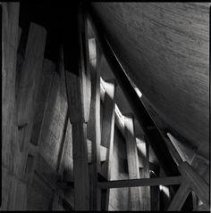 Firenze, Italy - Chiesa sull'autostrada, Michelucci,  brutalism in architecture.