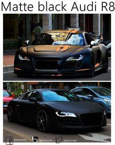 Matte Black Audi R8 ❤️                                                       … …