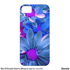 Blue N Purple Daisies iPhone 5 case